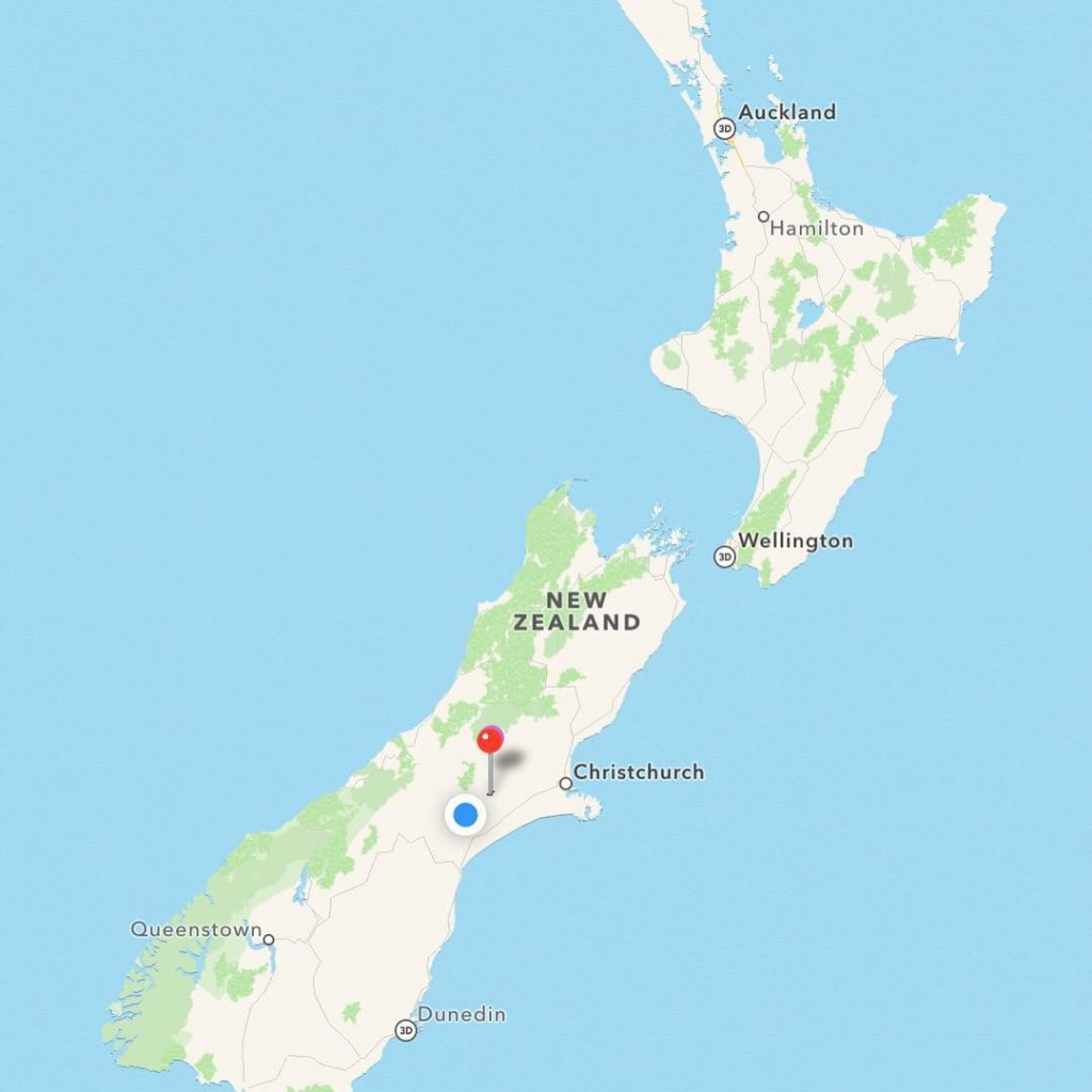 The pin marks our location in NZ pinedale newzealand